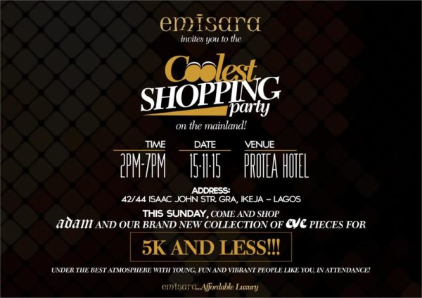 Shopping Party E-Flier Black