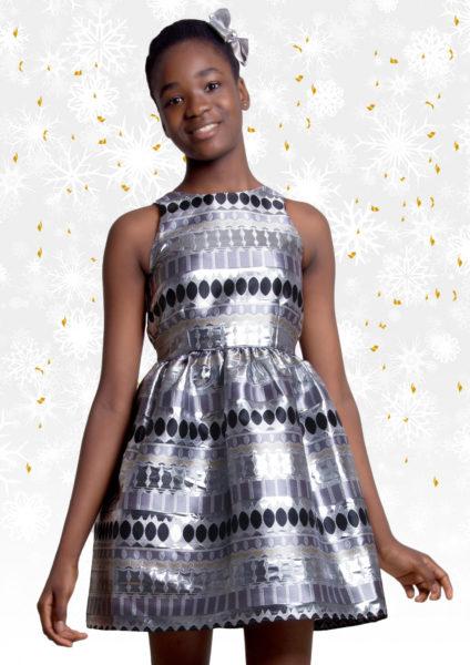 Silver & Black Parcel Dress