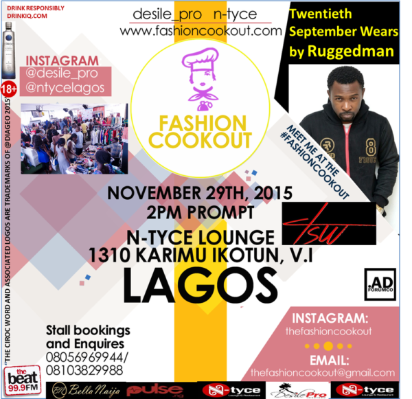 fashion cookout Nov 29