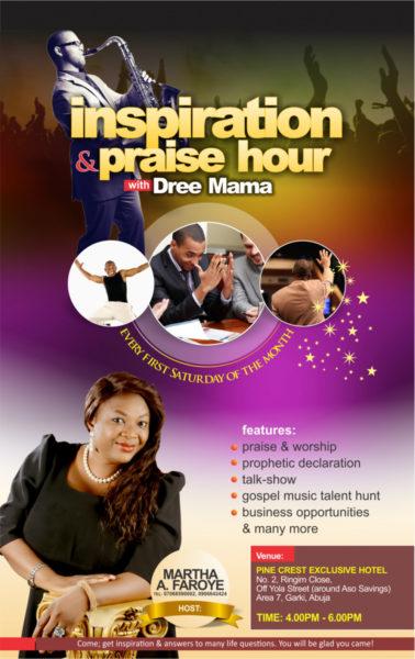 inspiration & praise hour flyer