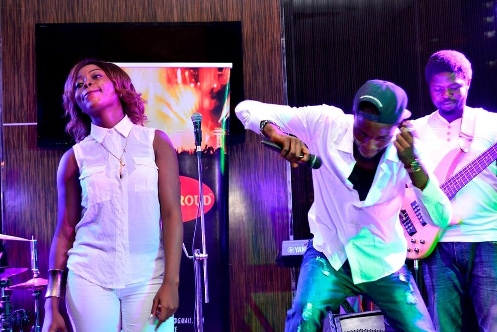 3 DABORN PERFORMS ON STAGE