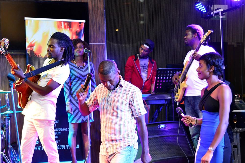 9 LoudNProudLive 'One Sound' Band play as anchor hosts Kessiena & Zemaye watch on