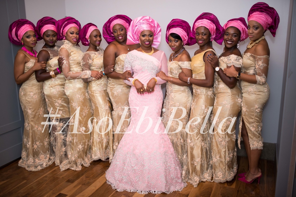 @asabe_hassan and her bridesmaids