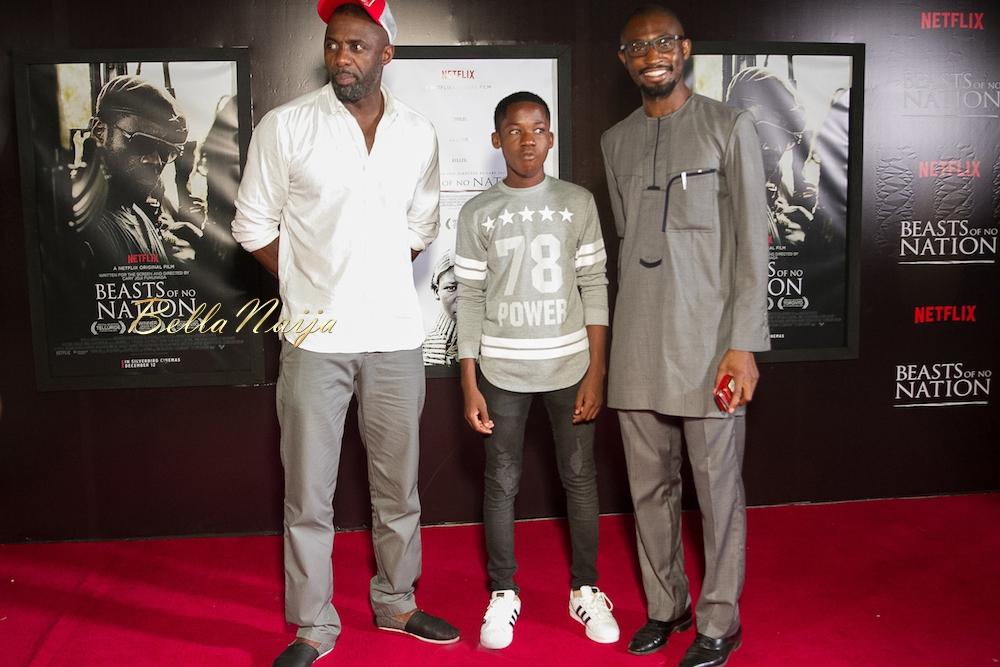 Idris Elba, Abraham Attah & Uzodinma Iweala