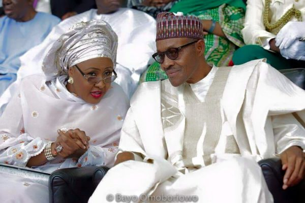 "A ""Yes you can call me Mr President"" smile with wife Aisha at the Inauguration 
