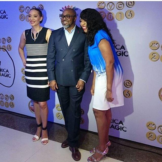 CEO MNet Yolisa Phahle, MD Multichoice Nigeria John Ugbe and Regional Director Mnet West Africa Wangi Mba-Uzoukwu