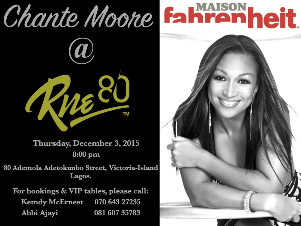 Chante Moore at Maison in Lagos 2015