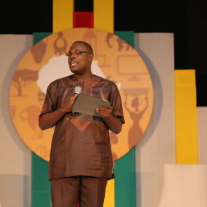 Chude Jideonwo giving his speeach at The Future Awards Africa 2015