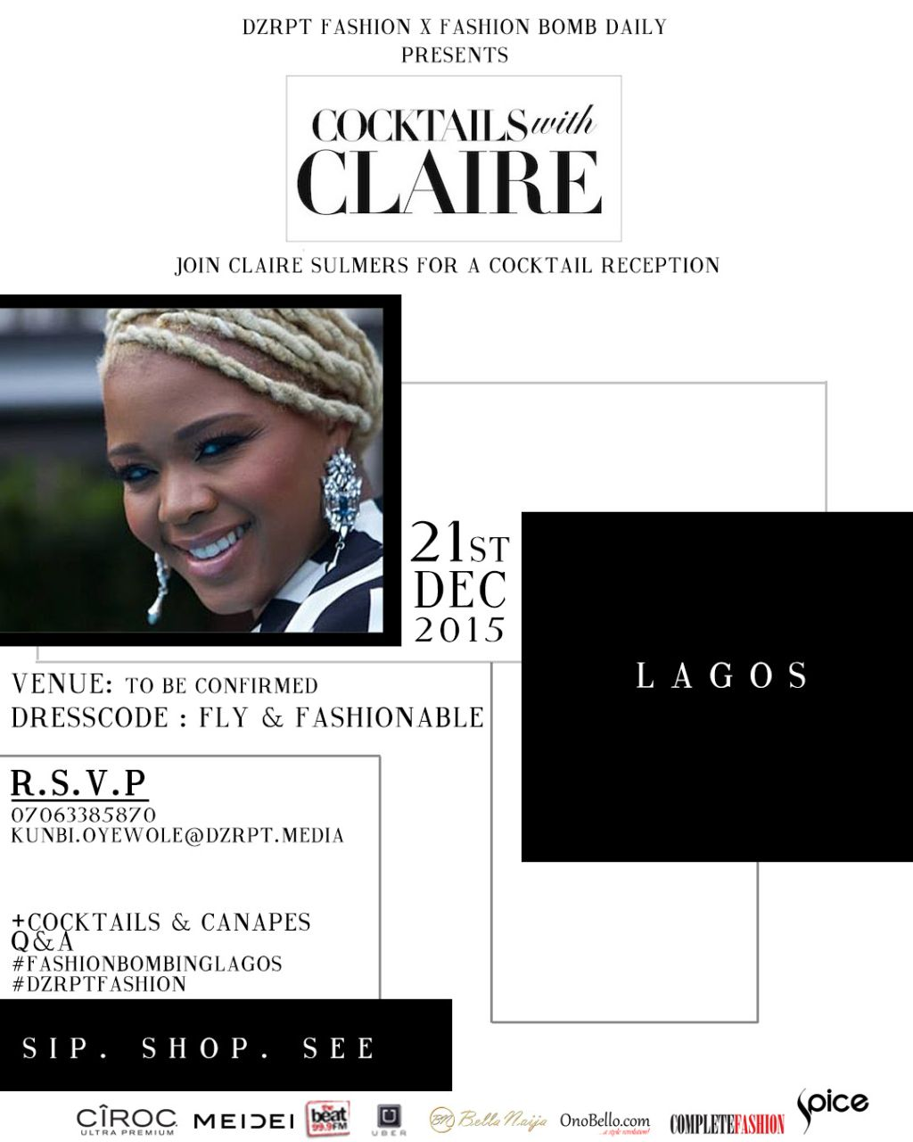 Cocktails with Claire Sulmers in Lagos - BellaNaija - December 2015