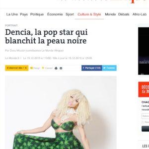 Dencia  la pop star qui blanchit la peau noire copy