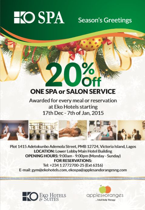 Eko Spa Discount - BellaNaija - December 2015