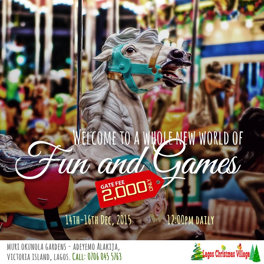 Family Fun Games Christmas Village