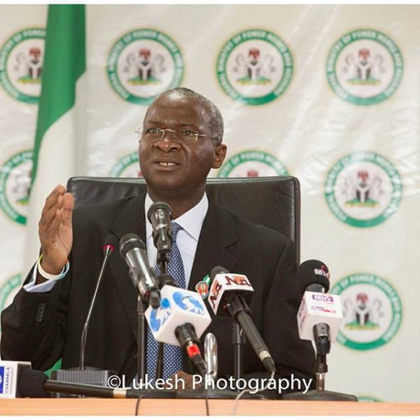 Fashola Minister of Works Plan