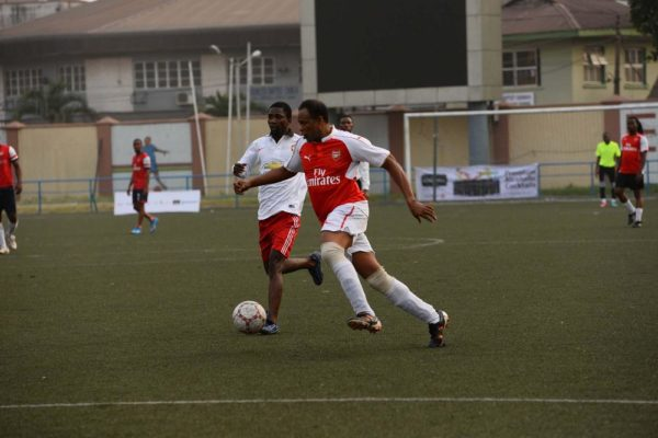 Fred Amata on the ball