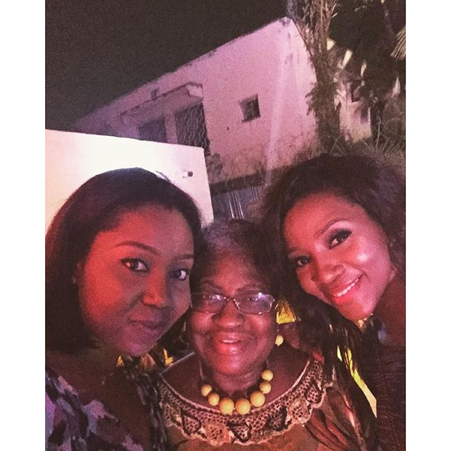 Genevieve and business partner Chinny with Ngozi Okonjo-Iweala