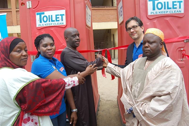 H2 Harpic Mobile Toilet Donations