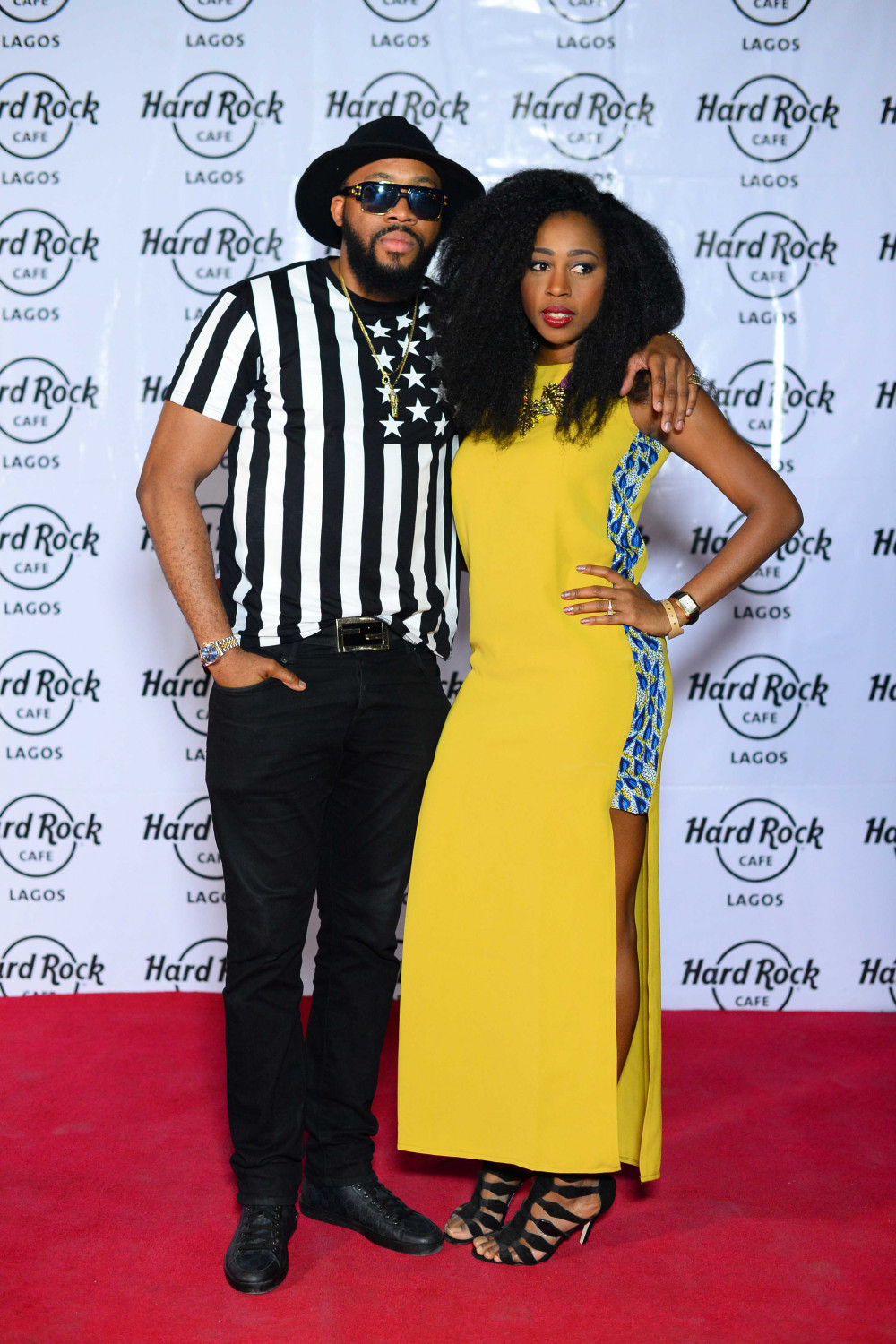 Hard Rock Cafe Lagos Launch BellaNaija fashionable couple