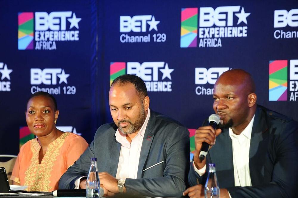 Head of Tourism, City of Joburg, Bintu Petsana, SVP & GM, BET International, Michael ARmstrong and SVP & MD, VIMN Africa, Alex Okosi
