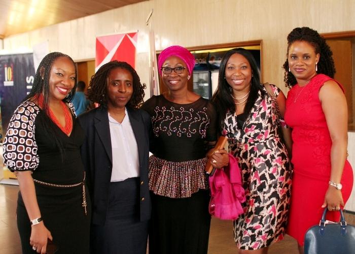 L-R_ Muni Shonibare_ CEO IO Furniture, Ifueko Omoigui Okauru, former FIRS Executive Chairperson, Amina Oyagbola founder WISCAR, Habiba Balogun & Tampiri Irimagha Akemu, MD Sesema PR