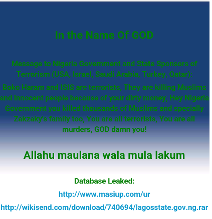 Lagos Site Hacked