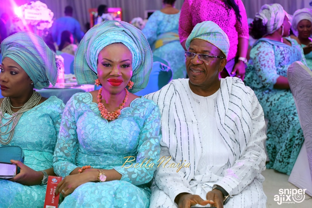 Betty Irabor and husband Soni at Liz Awoliyi's Wedding in December 2015