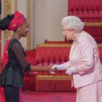 2015 Winner Nkechi Azinge receiving her award from the Queen