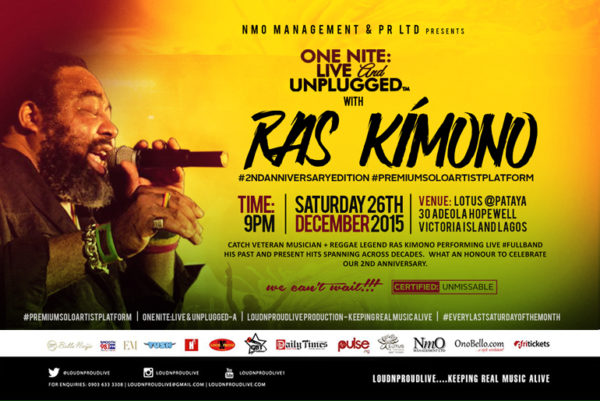 ONE NITE LIVE & UNPLUGGED WITH RAS KIMONO (FINAL)