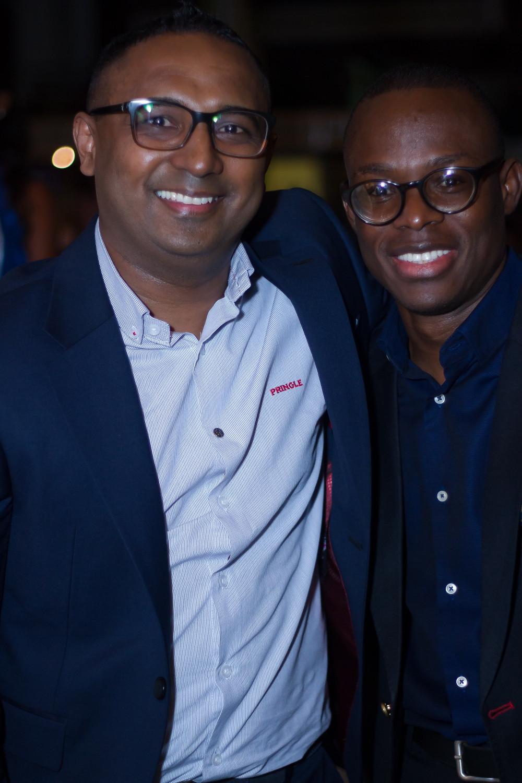 Head of Marketing, 7UP Bottling Co, Norden Thurston, and Segun Ogunleye, Brand Manger 7UP