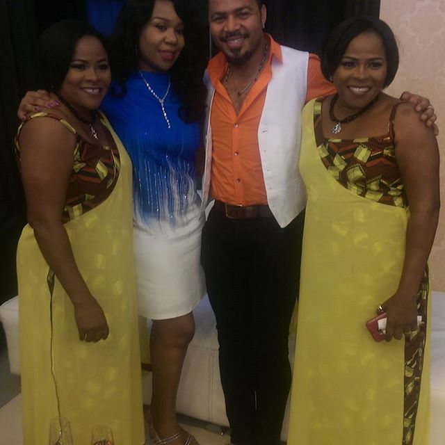 Ramsey Nouah & Regional Director MNet West Africa Wangi Mba-Uzoukwu with Taiwo and Kehinde Adeyemo
