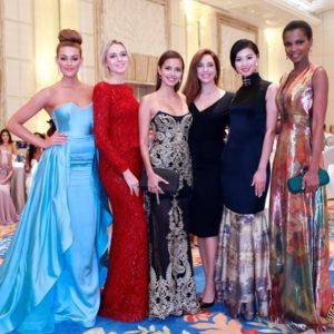 Rolene Strauss (Miss World 2014), Ksenia Sukhinova (Miss World 2008), Megan Young (Miss World 2013), Azra Akın (Miss World 2002), Yu Wenxia (Miss World 2012) Agbani Darego (Miss World 2001)