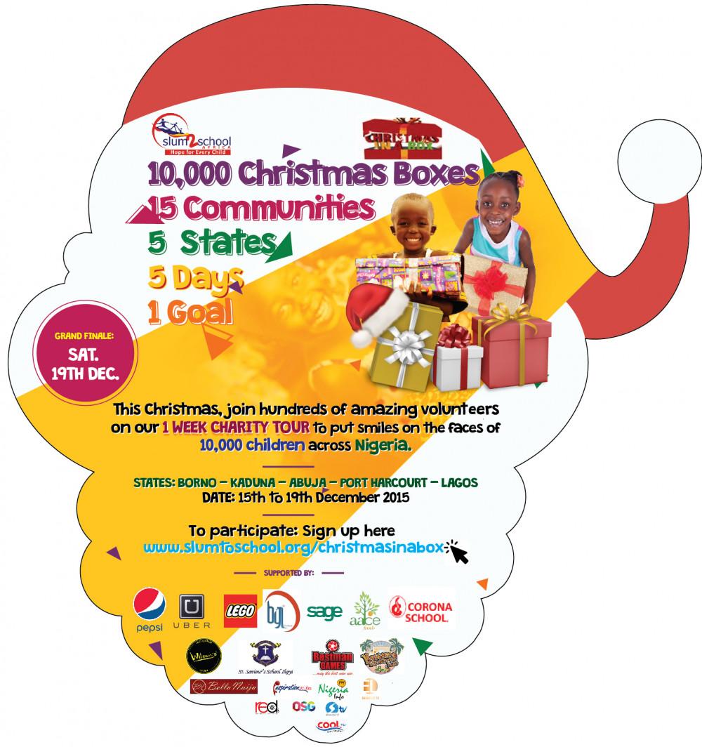 Slum2School ChristmasInABOX Flyer Front