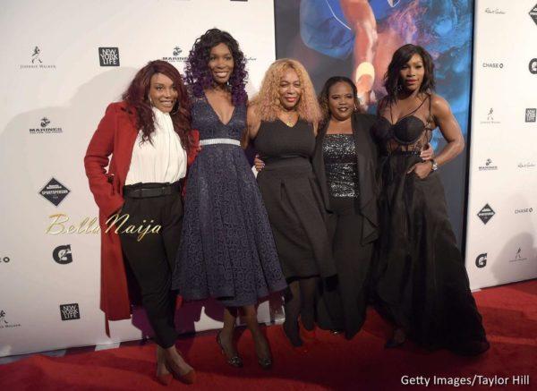 Lyndrea Price, Venus Williams, Oracene Price, Isha Price and Serena Williams