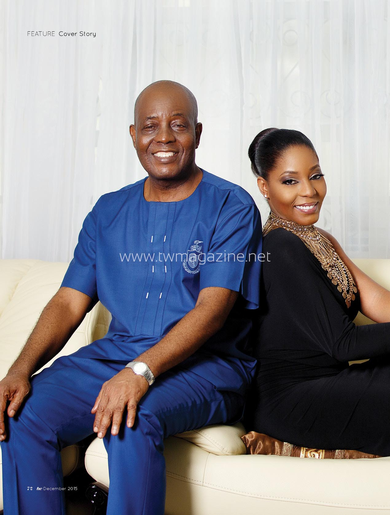 TW Dec_Cover Jennifer and Frank Olize BellaNaija 1
