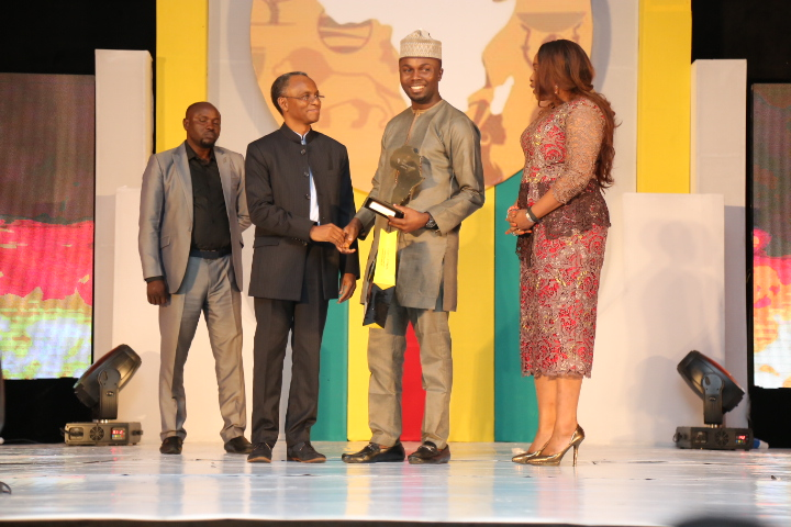 The Future Awards Africa Prize for Young Person of the Year, Philip Obaji Jnr. (Nigeria) Winner  presented by Govenor of Kaduna state, El Rufai