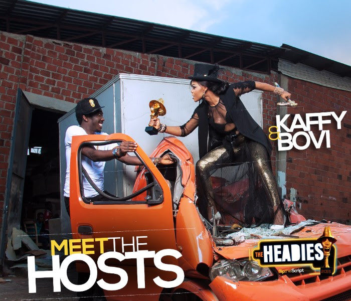 Bovi & Kaffy Are The Hosts For The Headies 2015!