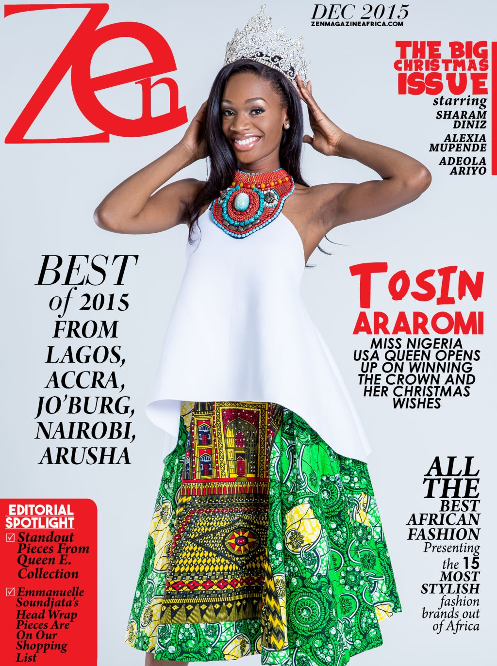 Tosin Araromi at Zen Magazine - BellaNaija - December 2015