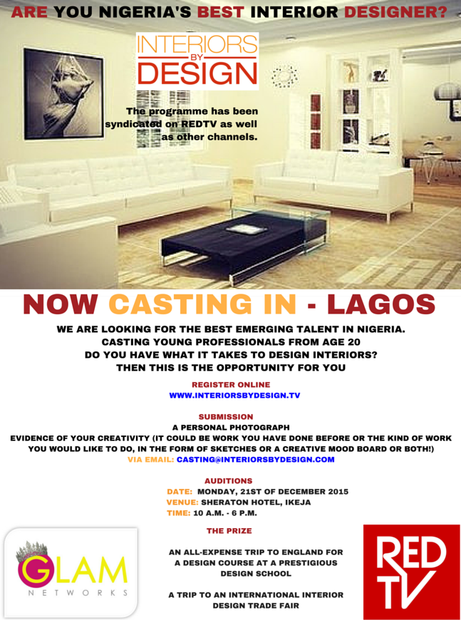 Casting begins for Nigerias 1st Interior Design Reality Show