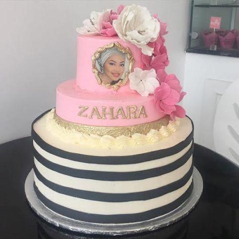 Zahra Buhari 21st birthday cake