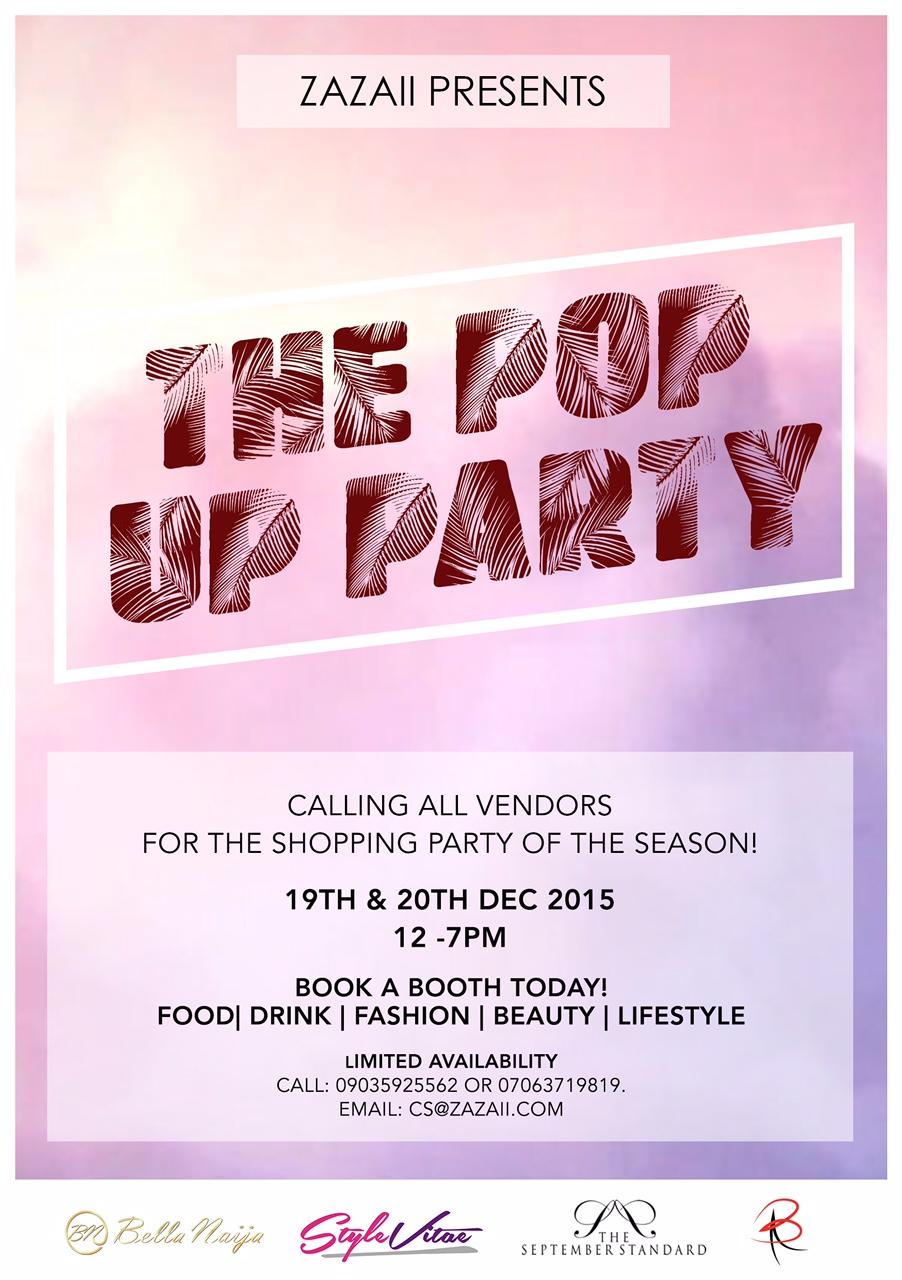 Zazaii presents the POP UP Party