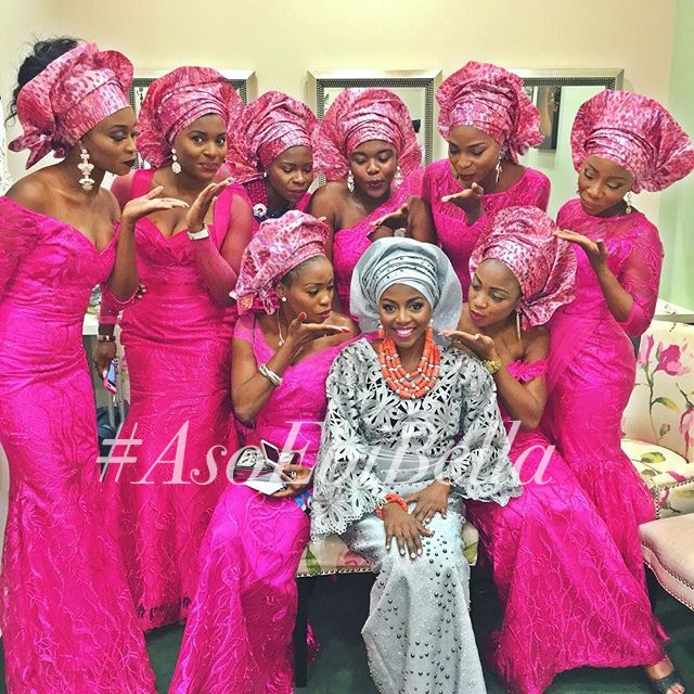 bride @tm_olofin and her friends