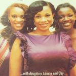 Abigail Fashanu (middle) with daughters Adaeze and Oby