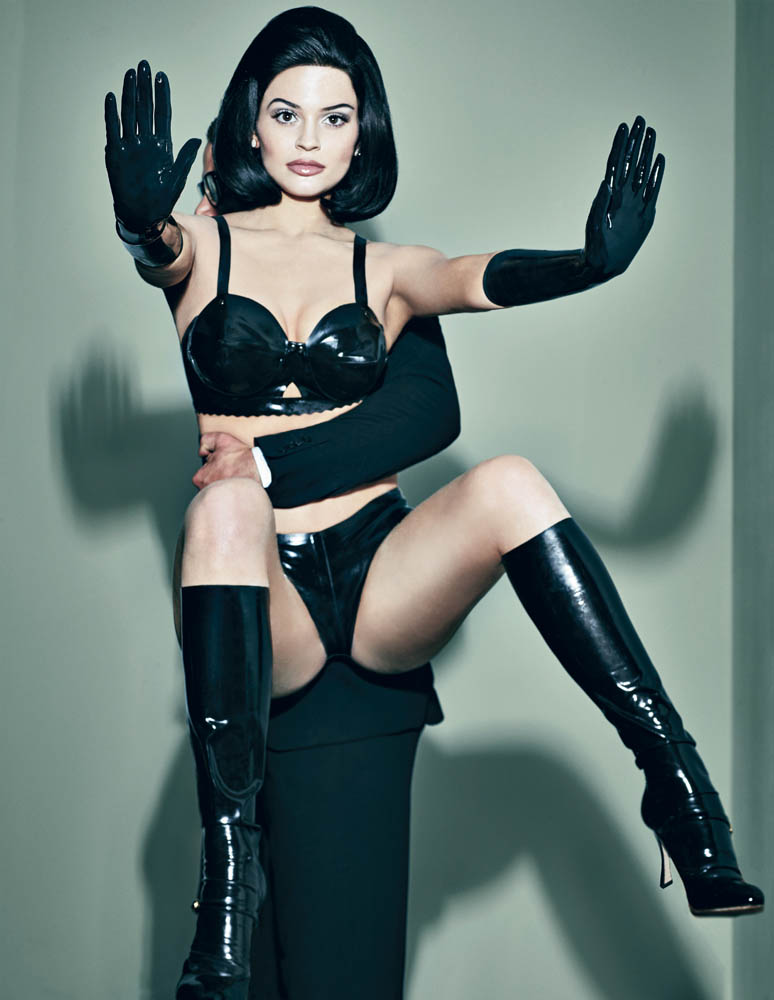 kylie jenner is all about latex baring her bum in interview
