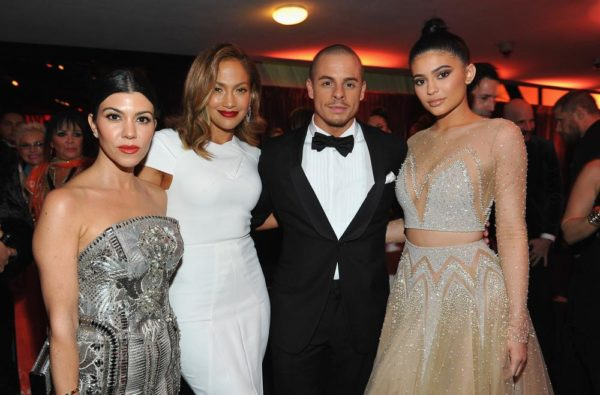 Kourtney Kardashian, Jennifer Lopez, Casper Smart and Kylie Jenner