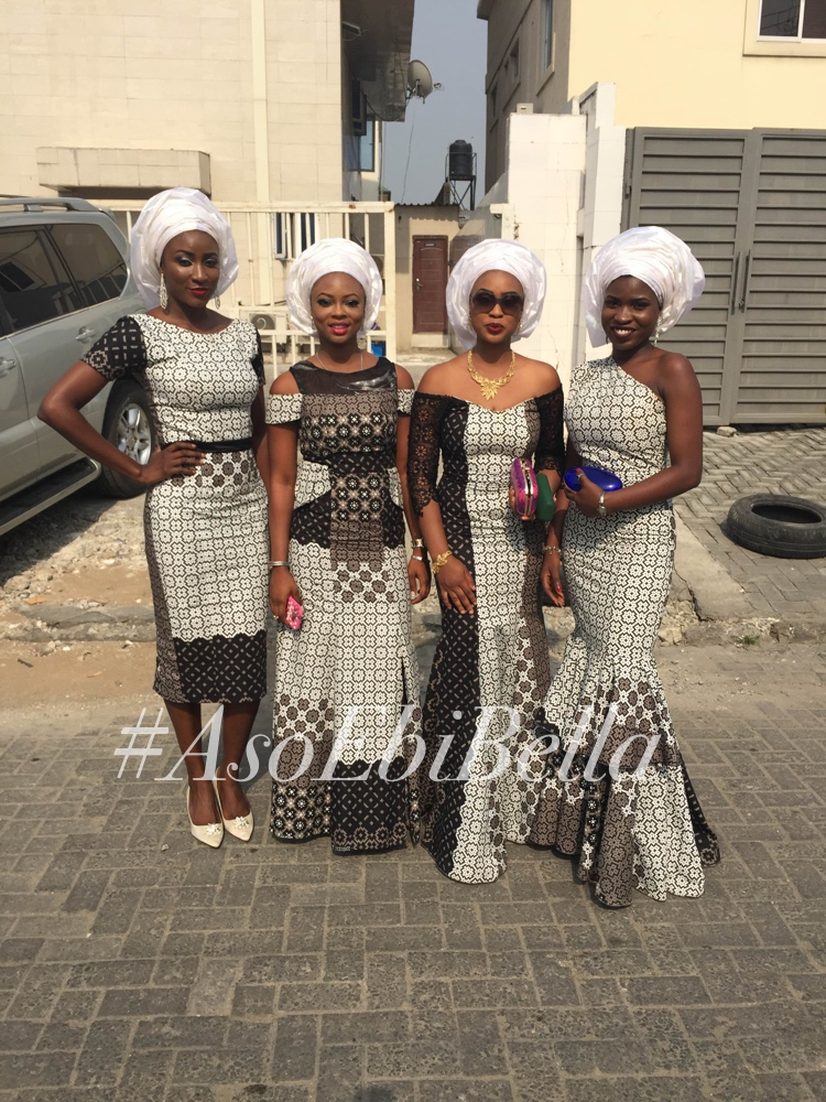 Collage of some of the most beautiful aso ebi styles for your