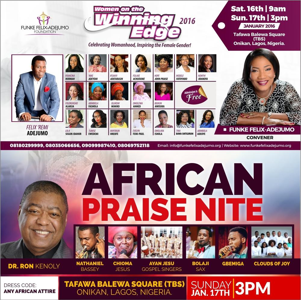 African Praise Nite at Women on the Winning Edge 2016 Conference
