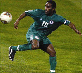 Okocha in his Super Eagles Heyday