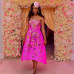 Ameera in Oscar de la Renta, decor by The Wedding Guru, photo by George Okoro Photography