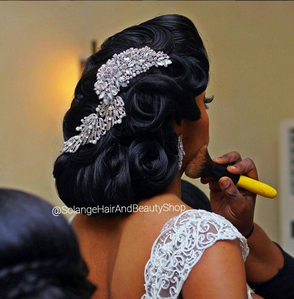 Bride Nkiru Araraume, Hair by Solange Hair and Beauty Shop