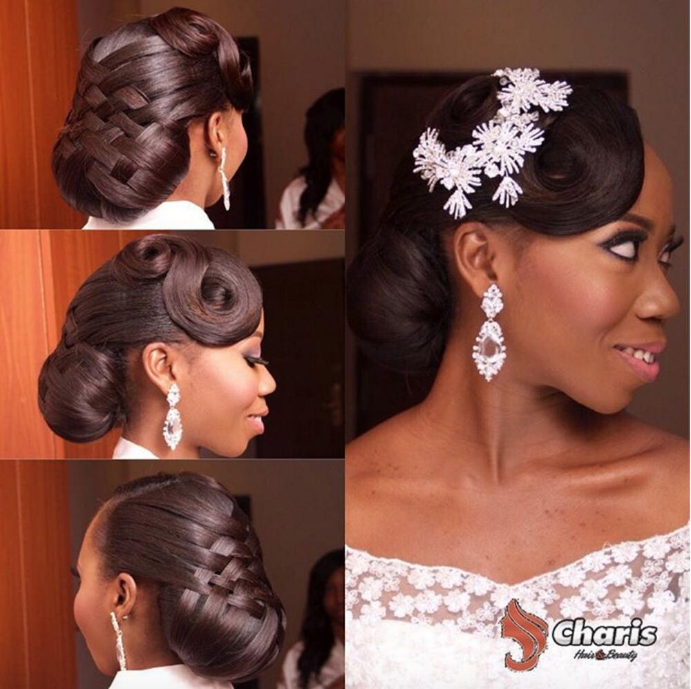 Bride Tola, Criss Cross Hair by Charis Hair, Makeup by Eniola Ayoola