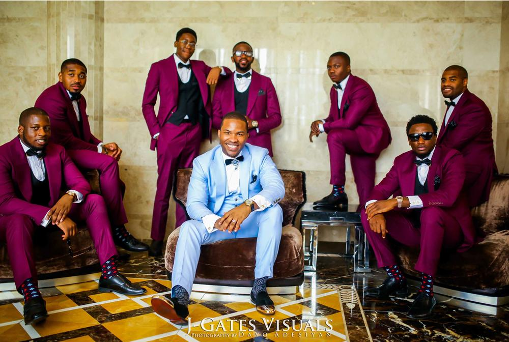 Groom Ekene and his groomsmen | Photo by JGates Visuals